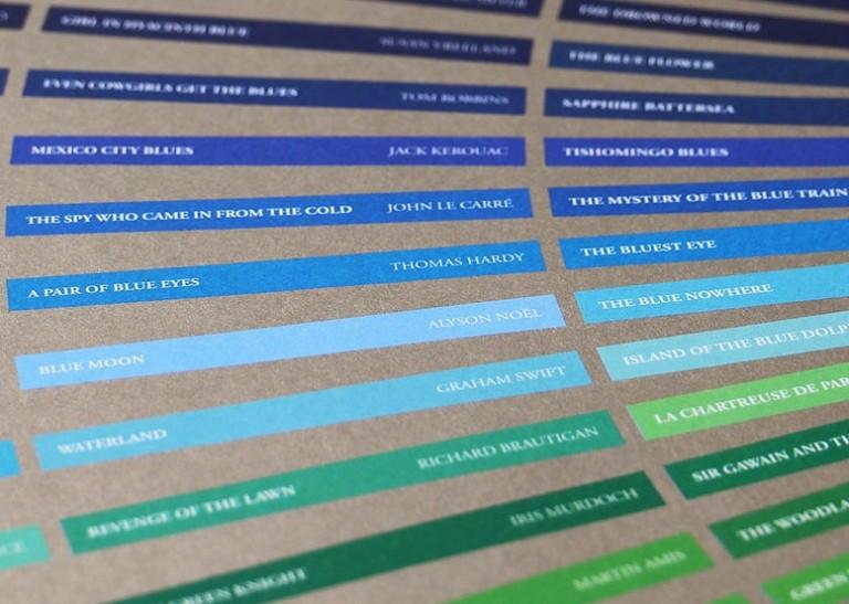 Libros cromáticos, leer por colores